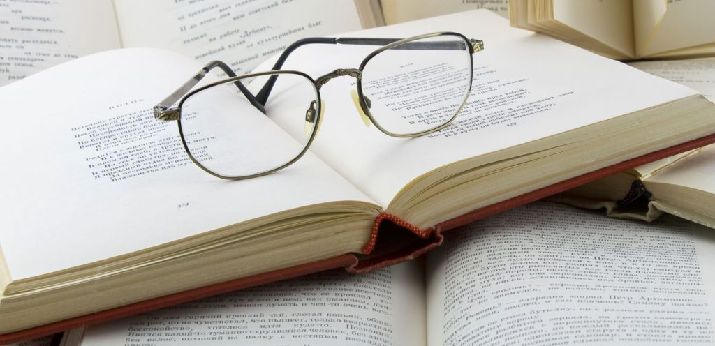 Glasses on books (2)